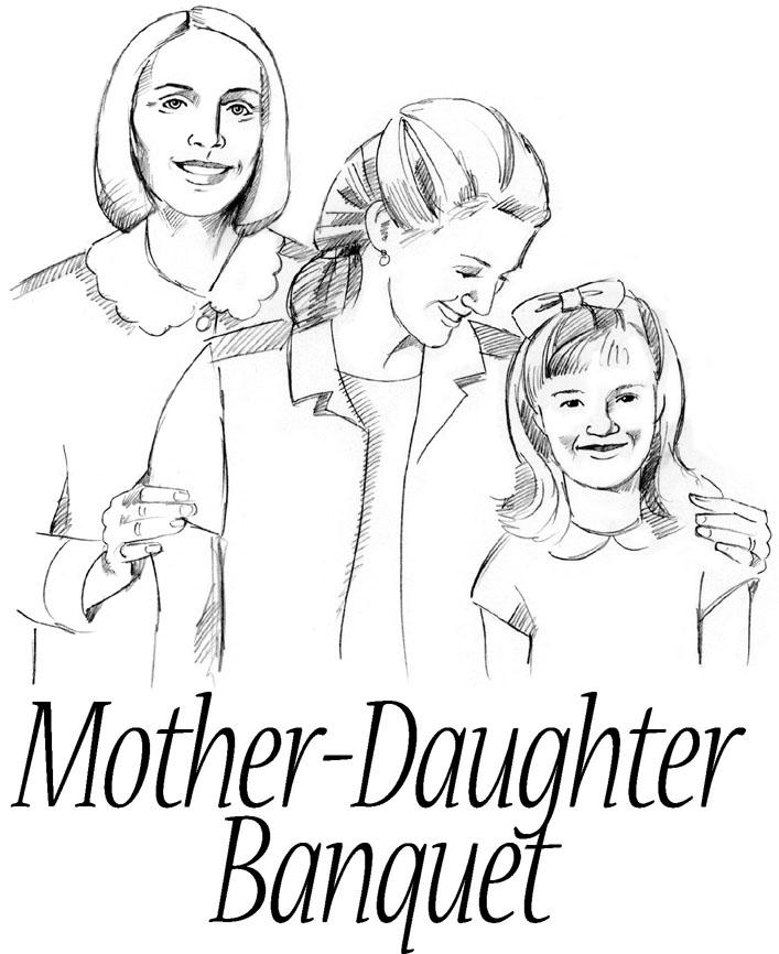 Mother Daughter Banquet Clipart #1-Mother Daughter Banquet Clipart #1-15