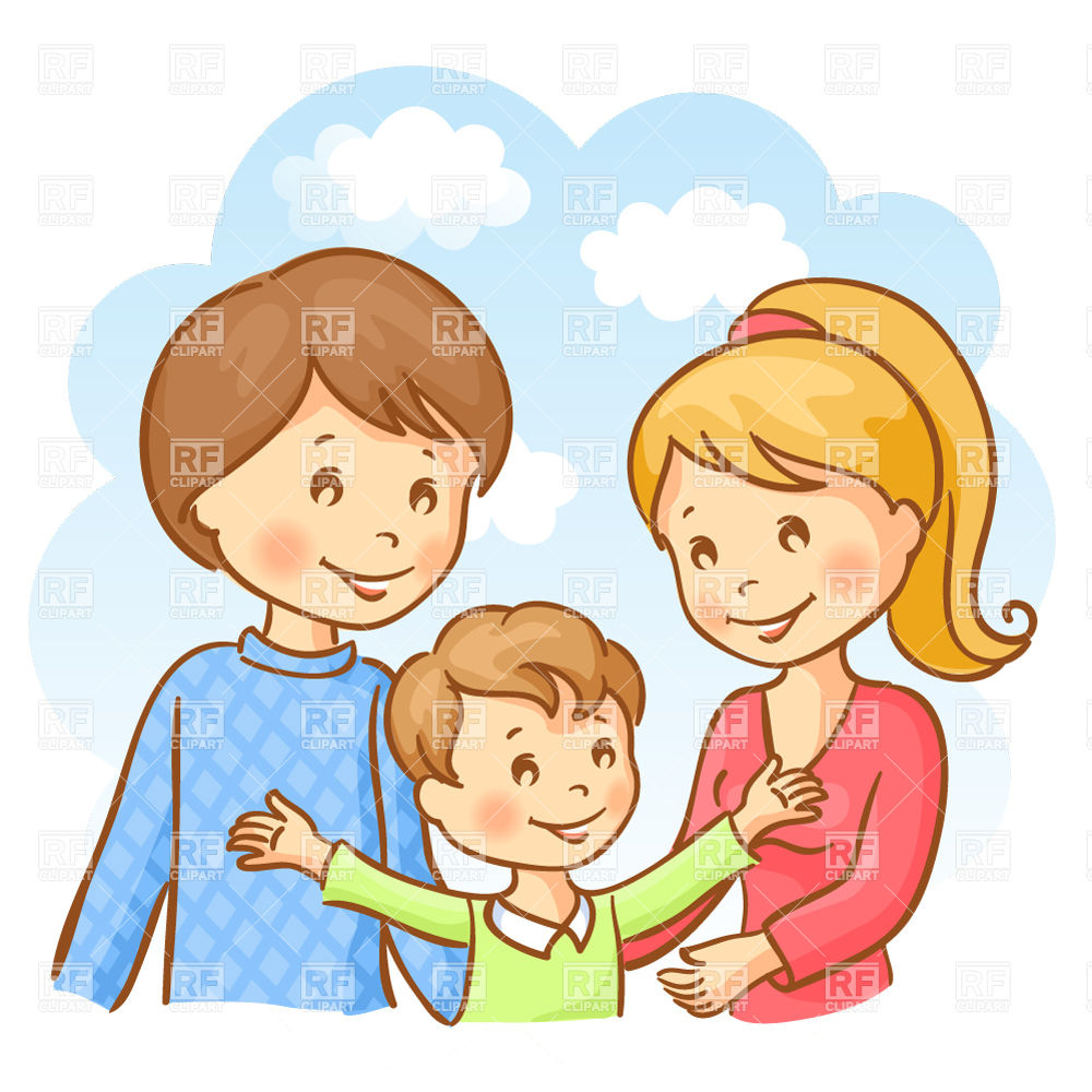 Mother Father And Son 29434 Download Royalty Free Vector Clipart