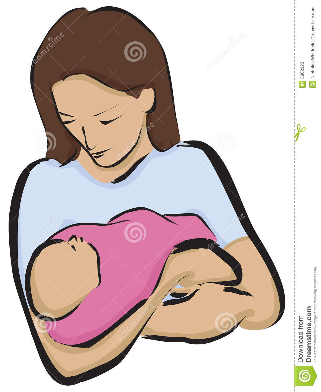 Mother Holding Her Newborn Baby-Mother Holding Her Newborn Baby-6