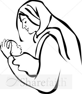 Baby Jesus Clip Art: holding baby jesus clipart
