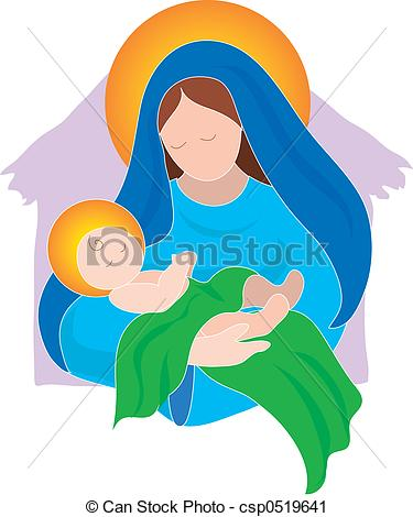 Mary and Baby - csp0519641