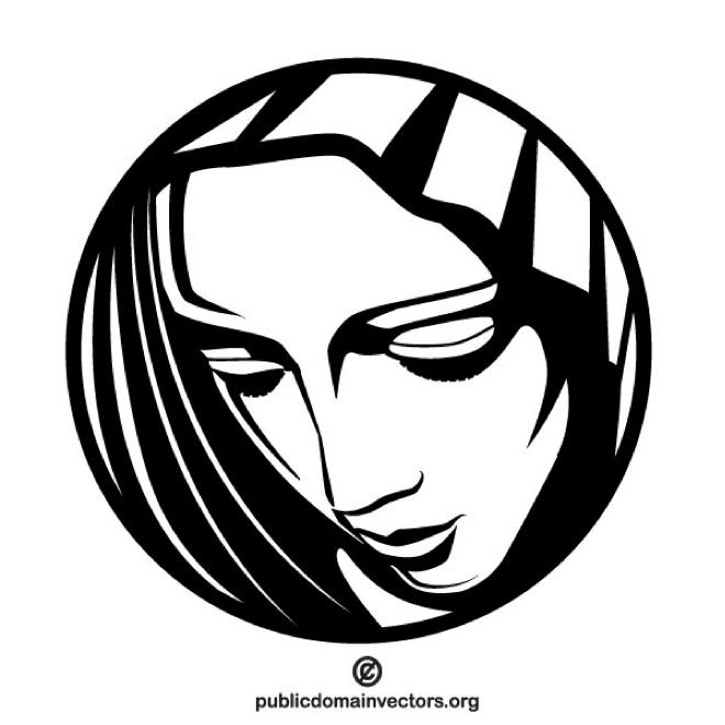 Mary Mother of Jesus vector clip art