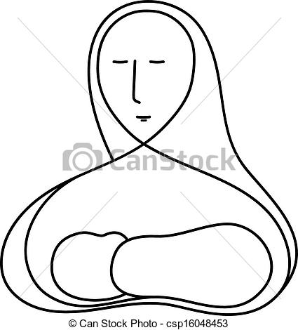 Mother Mary and Baby Jesus - csp16048453