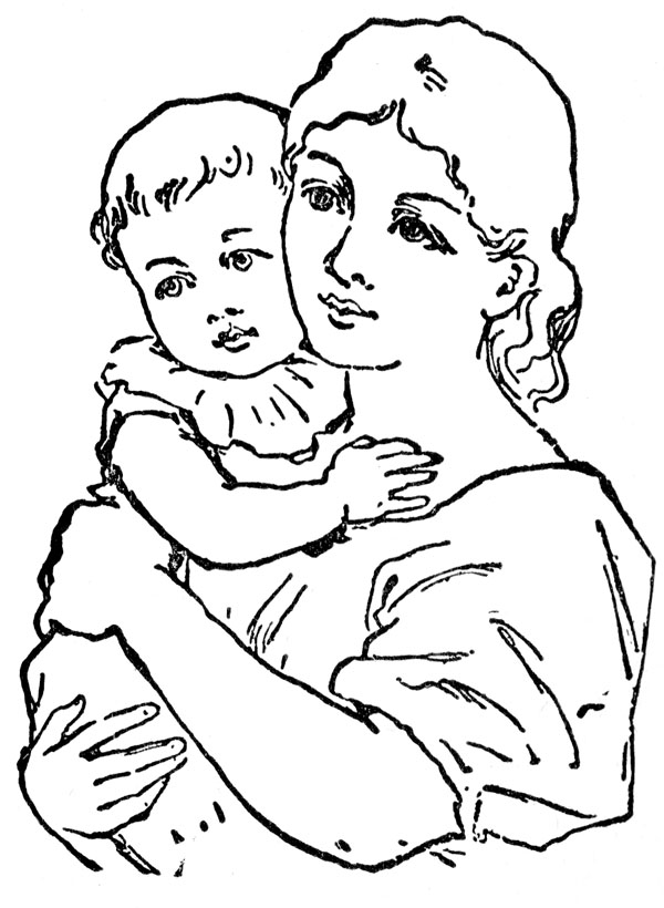 Mother S Day Clipart Black And White Free Baby Clipart 3 Jpg