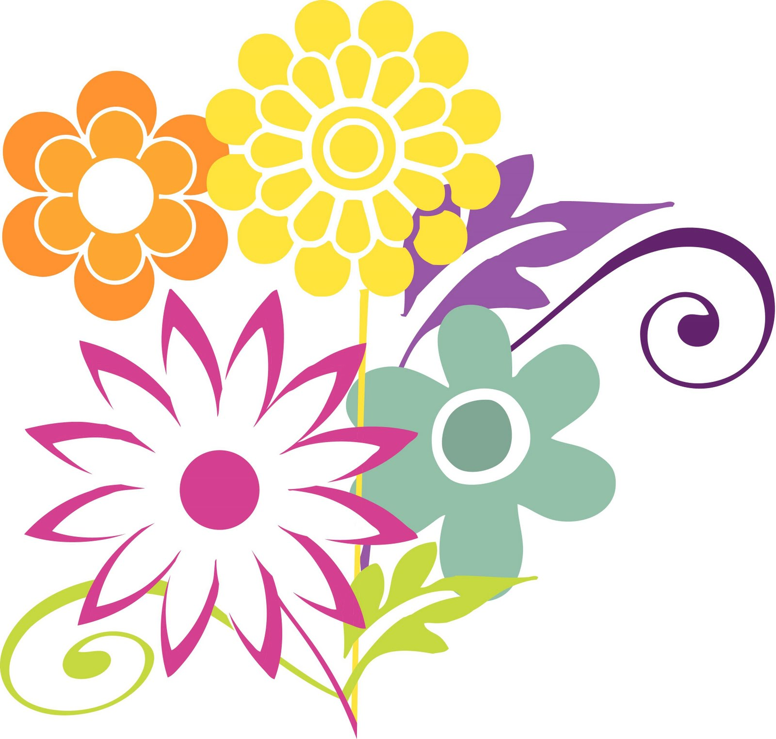 Mothers Day Flowers Clip Art