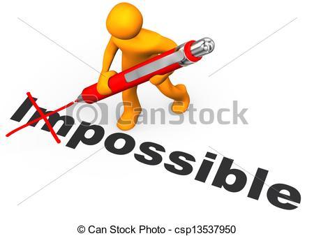 ... Motivation - Orange cartoon characte-... Motivation - Orange cartoon character makes impossible.-8
