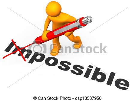 ... Motivation - Orange Cartoon Characte-... Motivation - Orange cartoon character makes impossible.-16