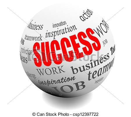 Motivation stamp Clip Art Vectorby carmendorin1/46; business success motivation ball sphere vector illustration