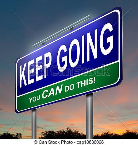 Motivational message. - Illustration depicting an.