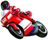 Biker Vector Silhouettes · Motorcycle-Biker vector silhouettes · Motorcycle-1