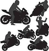 Red Motorcycle · Biker Vector Silhouett-Red motorcycle · Biker vector silhouettes-10