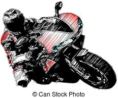 Red Motorcycle - Sketching Of The Motorc-red motorcycle - sketching of the motorcycle-11