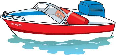 Motorboat Clip Art Aquatic Clipart Pinterest