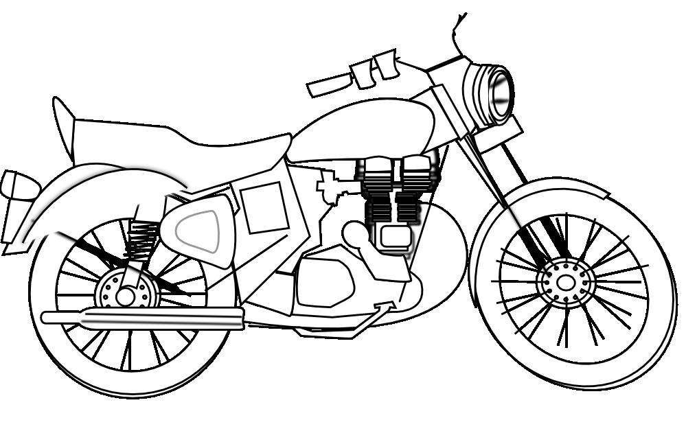 motorcycle black white .