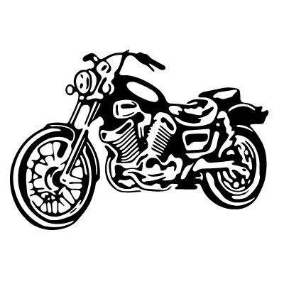 Motorcycle Clip Art Black And White | MO-Motorcycle Clip Art Black and White | MOTOR17-11
