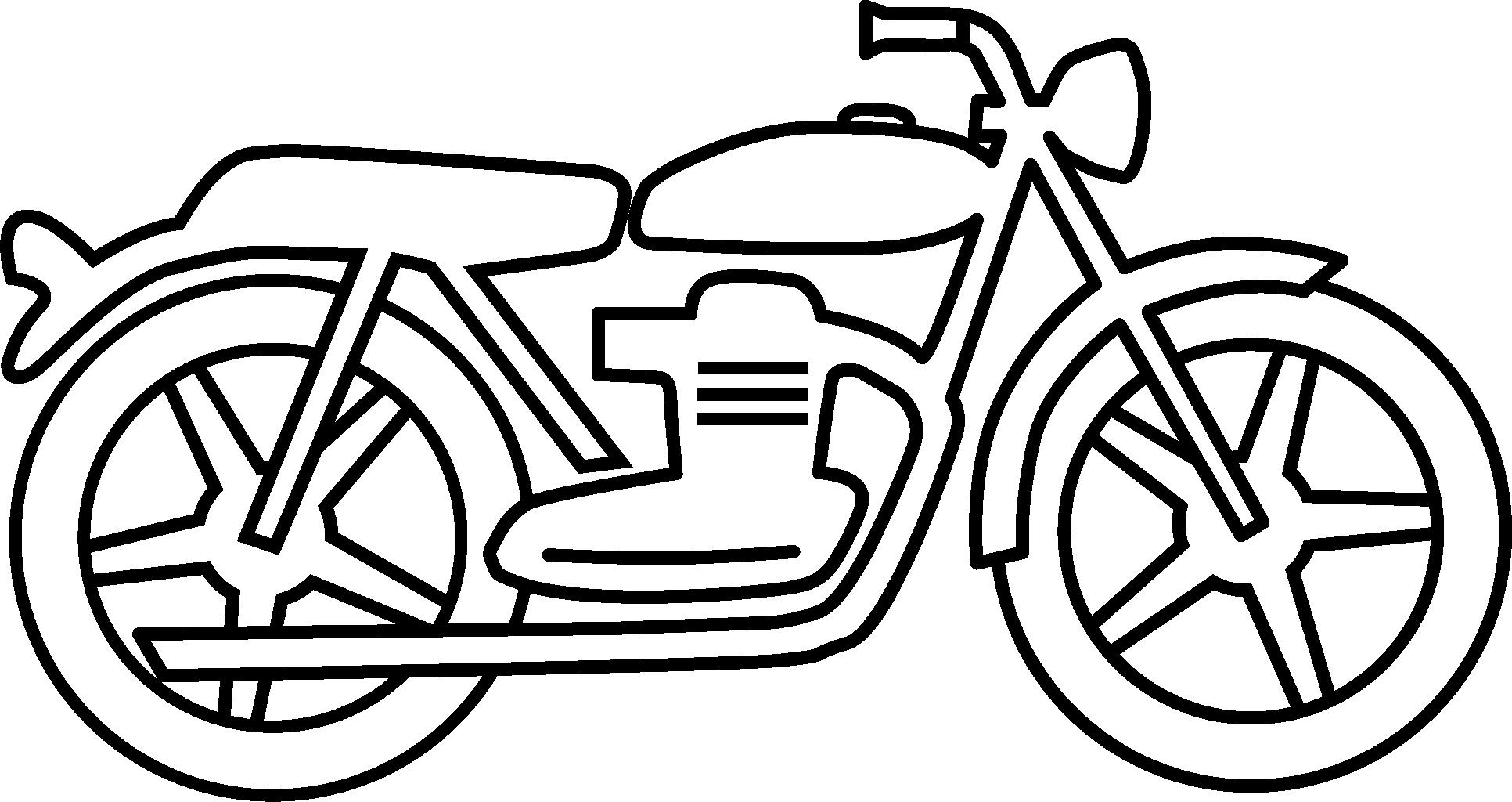 Motorcycle Clipart Black And White Simple ...