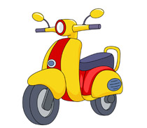 Scooter clipart. Size: 57 Kb