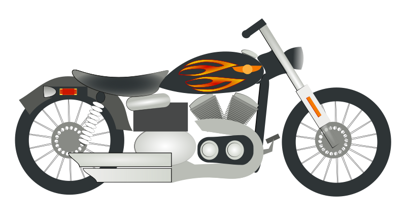 Motorcycle free to use clip art 3