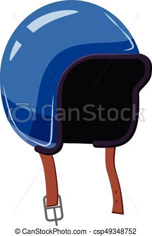 Motorcycle helmet icon, cartoon style - csp49348752