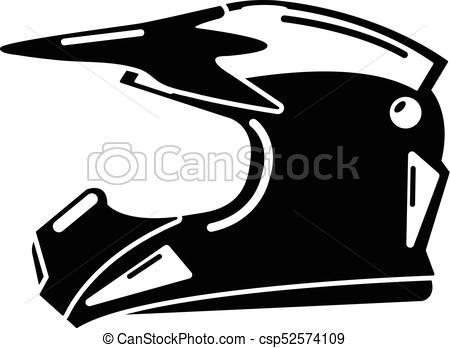 Motorcycle helmet icon, simple black style - csp52574109