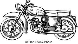 ... Motorcycle isolated on white background