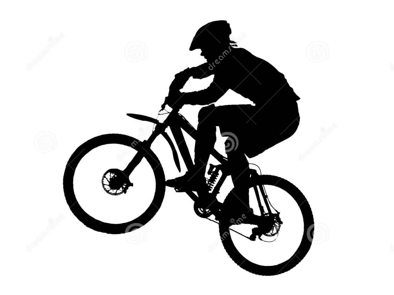 Mountain Bike Silhouette .