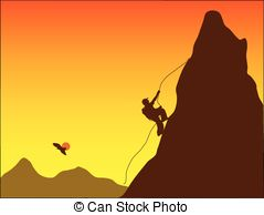 ... mountain climber - vector,silhouette of a mountain climber... mountain climber Clipartby ...