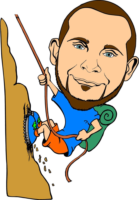 Mountain climbing cartoon clip art
