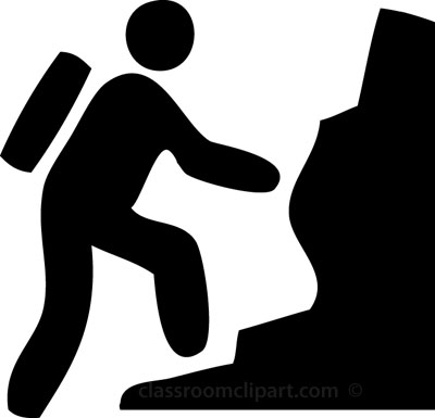 Mountain Climbing Clip Art .. Rock Climber Size: 37 Kb From: Symbols