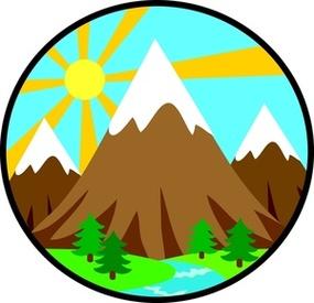 Mountain Clip Art Free .