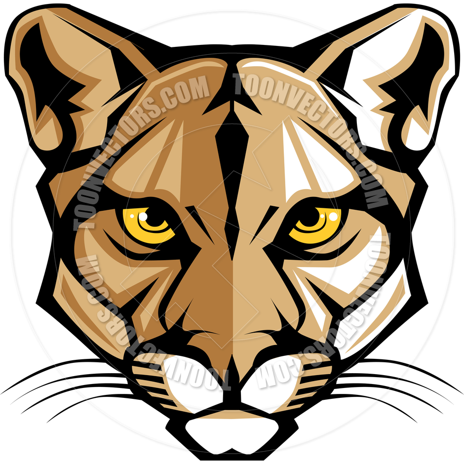 Mountain lion head clipart - ClipartFest