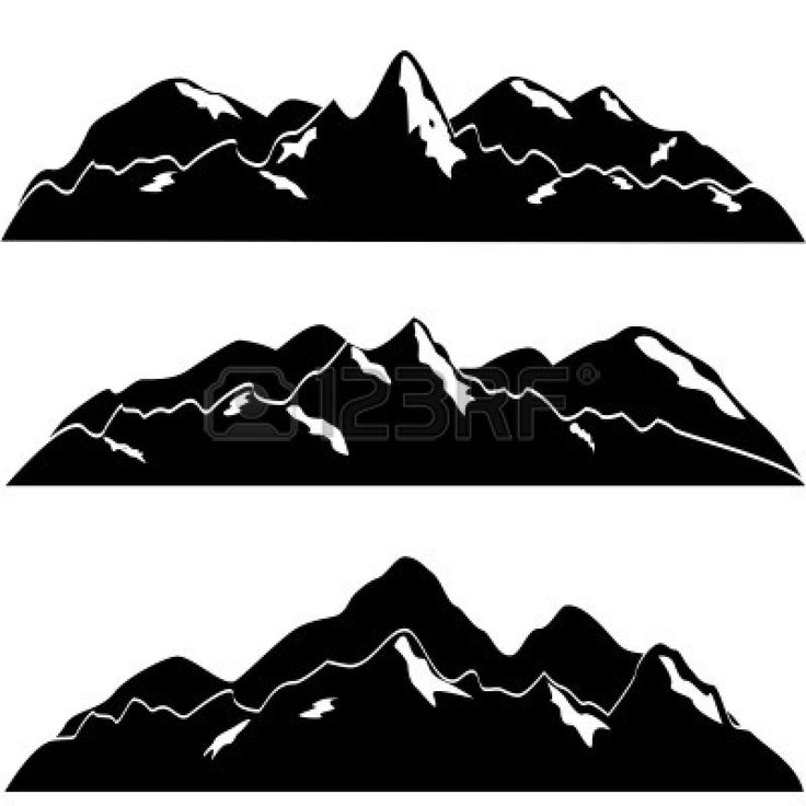 Mountain River Clip Art Black And White -Mountain River Clip Art Black And White Berg Clipart 10417052 Mountain-10