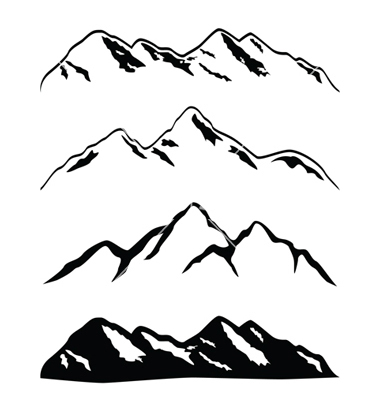 Mountain Silhouette Clip Art-Mountain Silhouette Clip Art-12