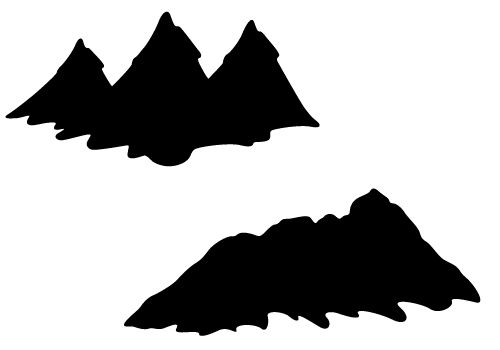 Mountain Silhouette Clip Art-Mountain Silhouette Clip Art-13