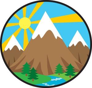 Mountain cute. Clip art free