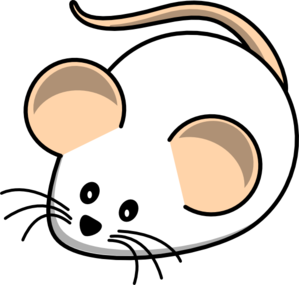 mouse clipart black and white