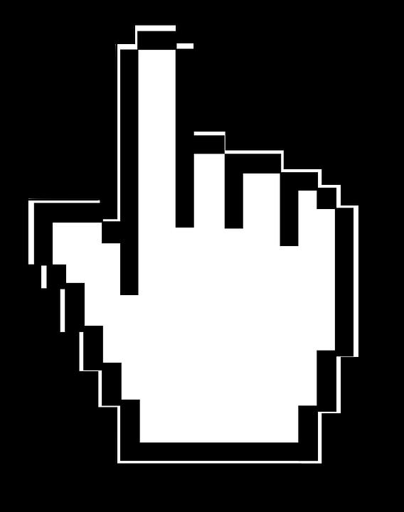 cursor mouse click pointer computer hand