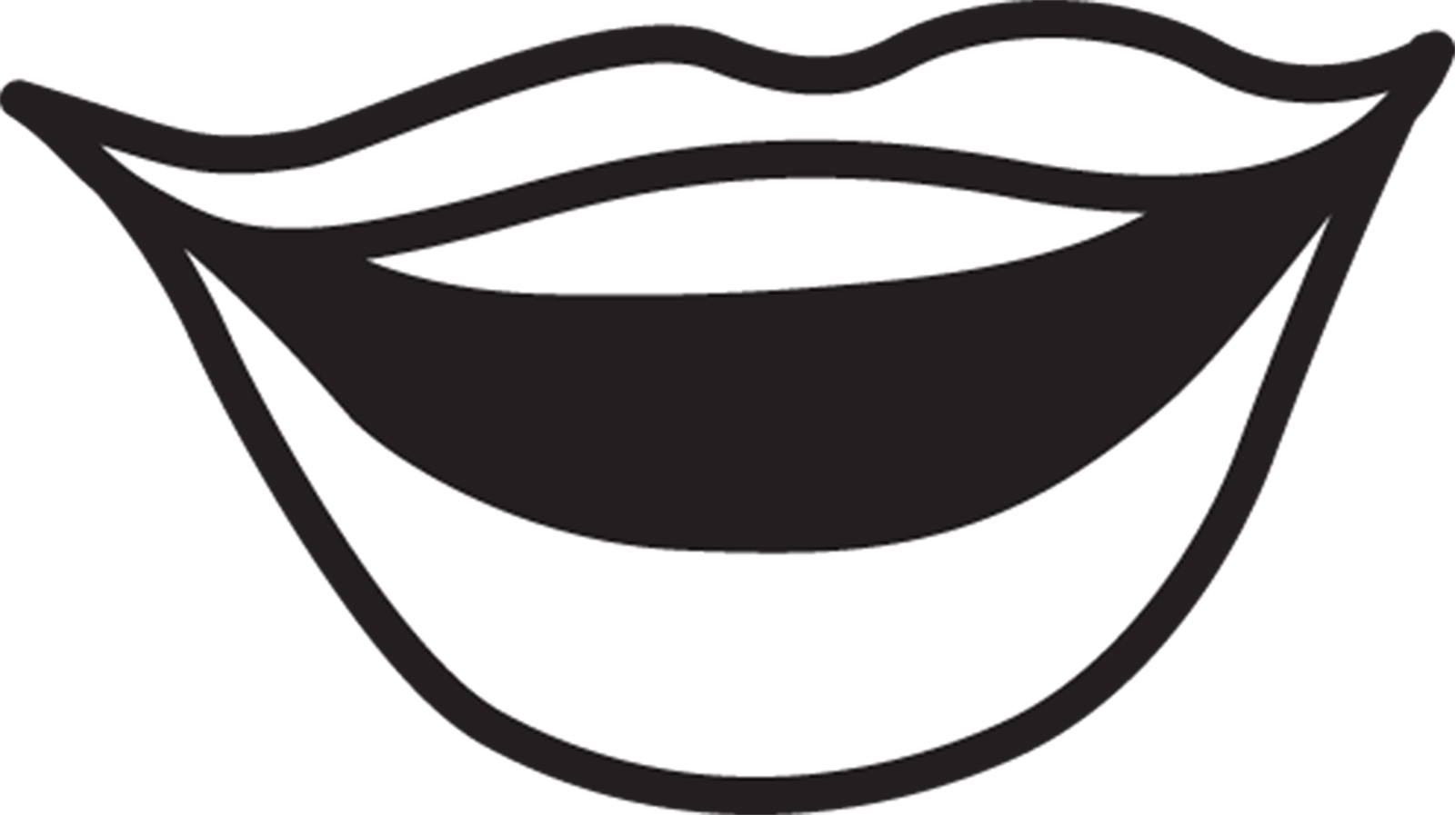 Mouth Clip Art Black And White-mouth clip art black and white-6