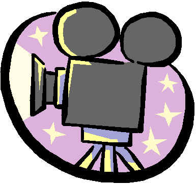 movie camera and film clipart
