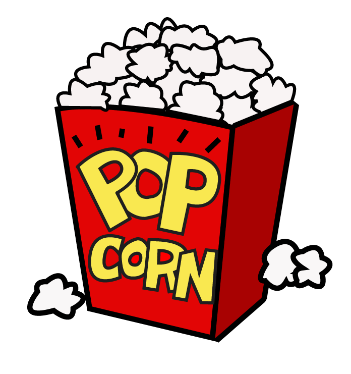 Movie night popcorn clipart free clipart images