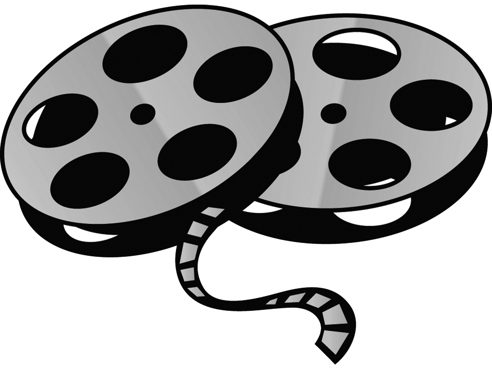 Movie Reel Clipart Black And . .-Movie Reel Clipart Black And . .-8