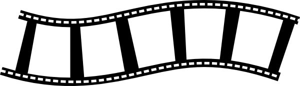 Movie reel movie film strip clip art image 2