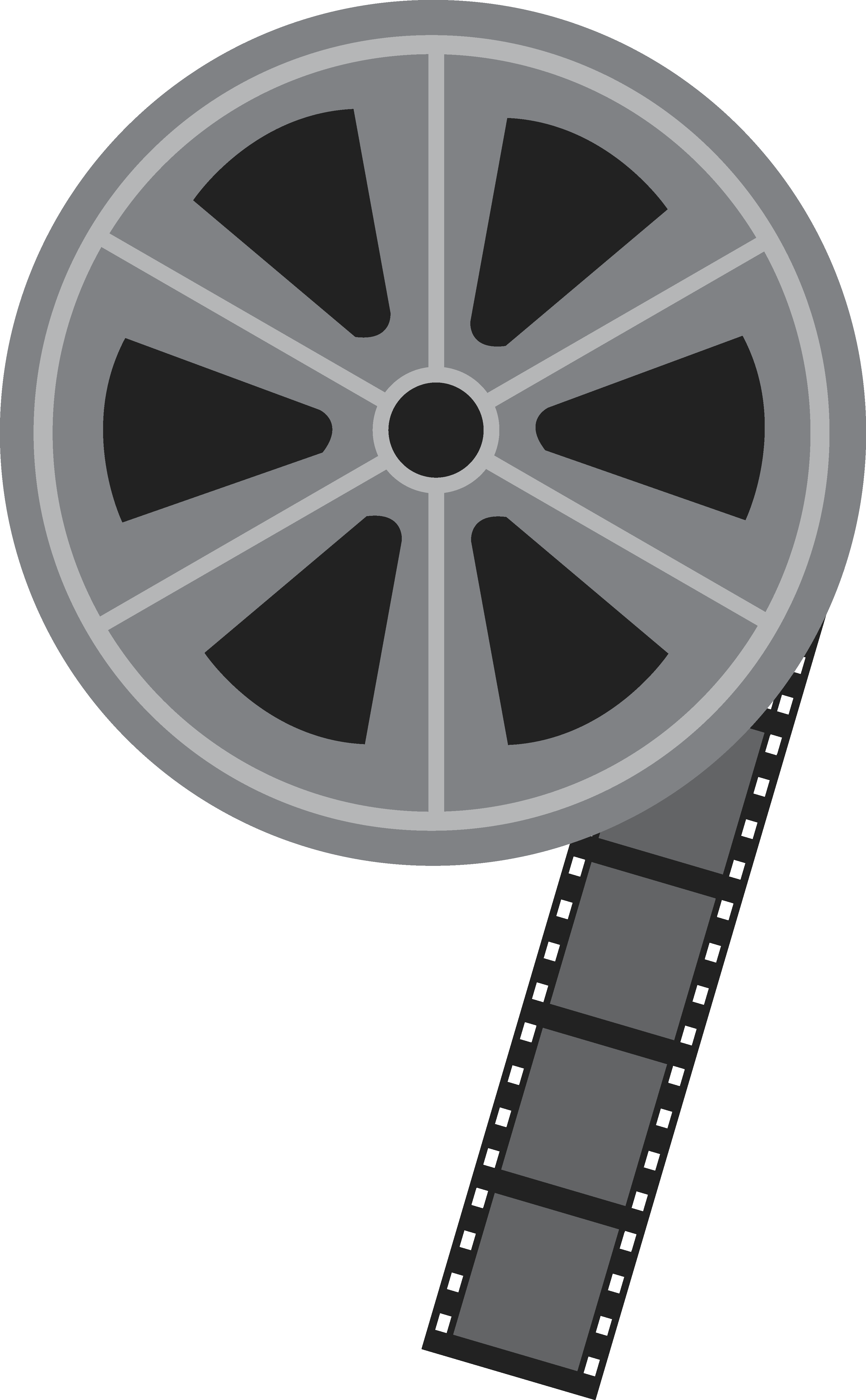 Movie reel movie free clip art .