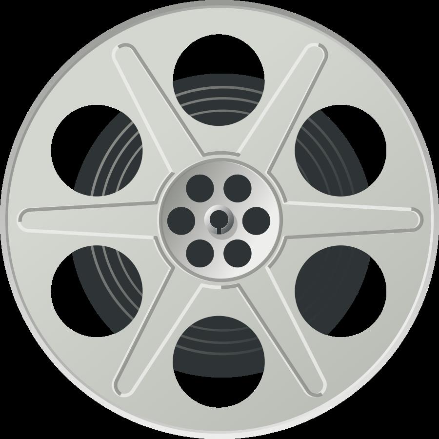 Movie reel svg vector file vector clip art svg file clipartsfree