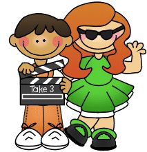 Movie star girl clipart - .