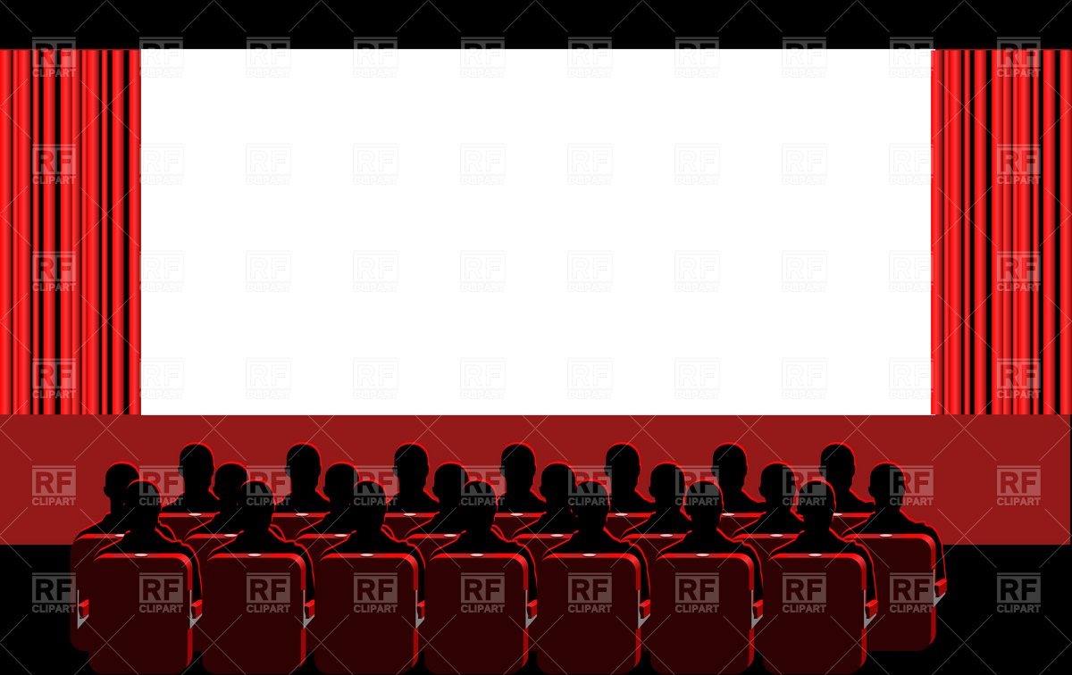 Movie Theater Blue Hall Download Royalty-Movie Theater Blue Hall Download Royalty Free Vector Clipart Eps-9