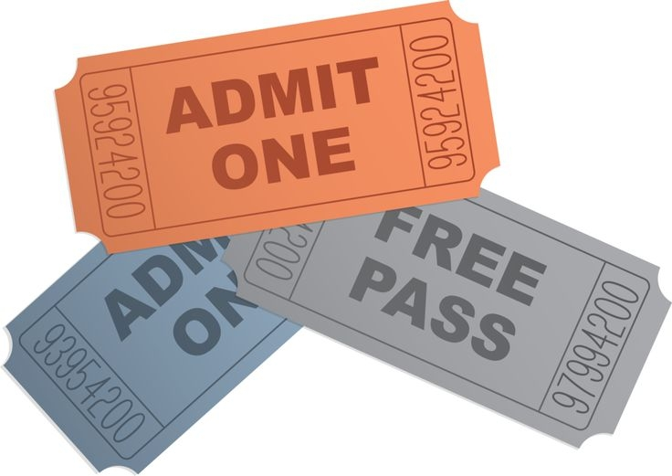 Movie ticket clipart free