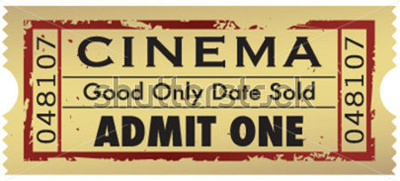 Movie ticket clipart free . - Movie Tickets Clipart