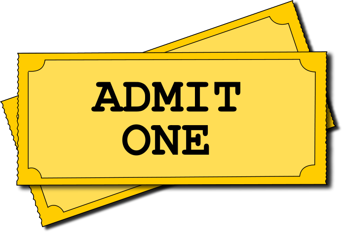 Movie Tickets Admit One-Movie Tickets Admit One-14