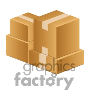 moving boxes clip art